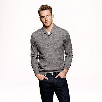 Shawl Collar Sweater Under Blazer Men's Shawl-collar Sweater